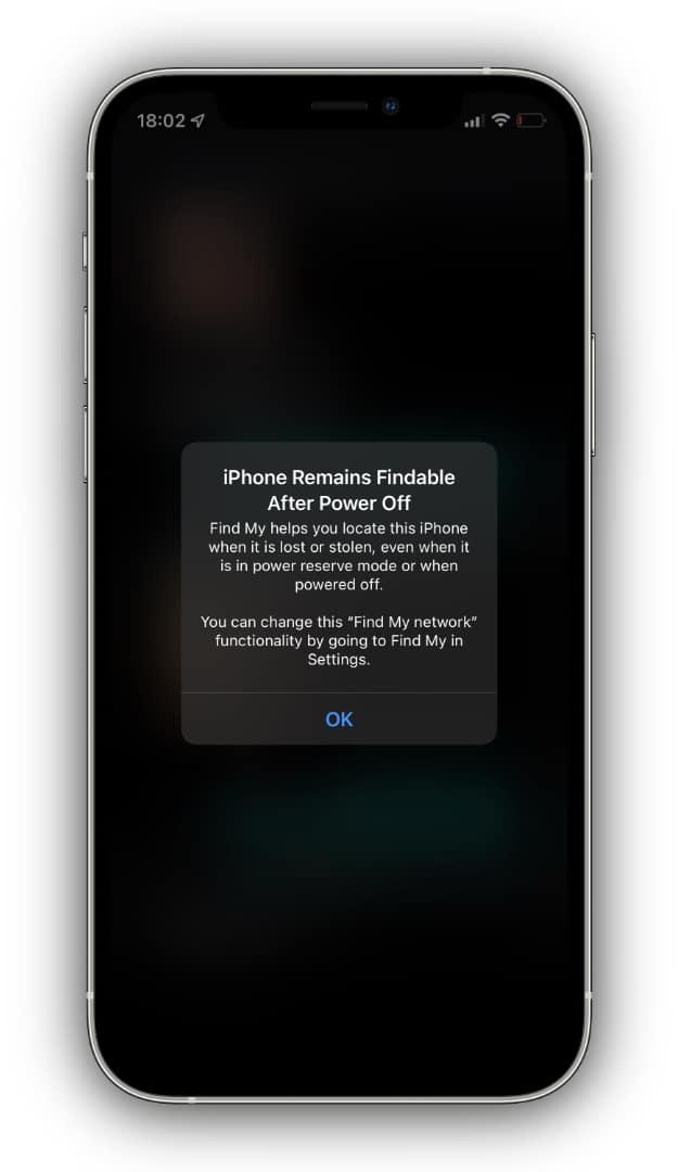 Buscar iPhone no iOS 15