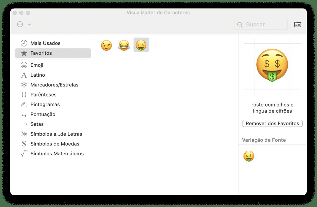 Emojis no Mac