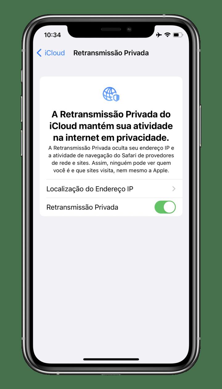 Retransmissão Privada do iCloud+