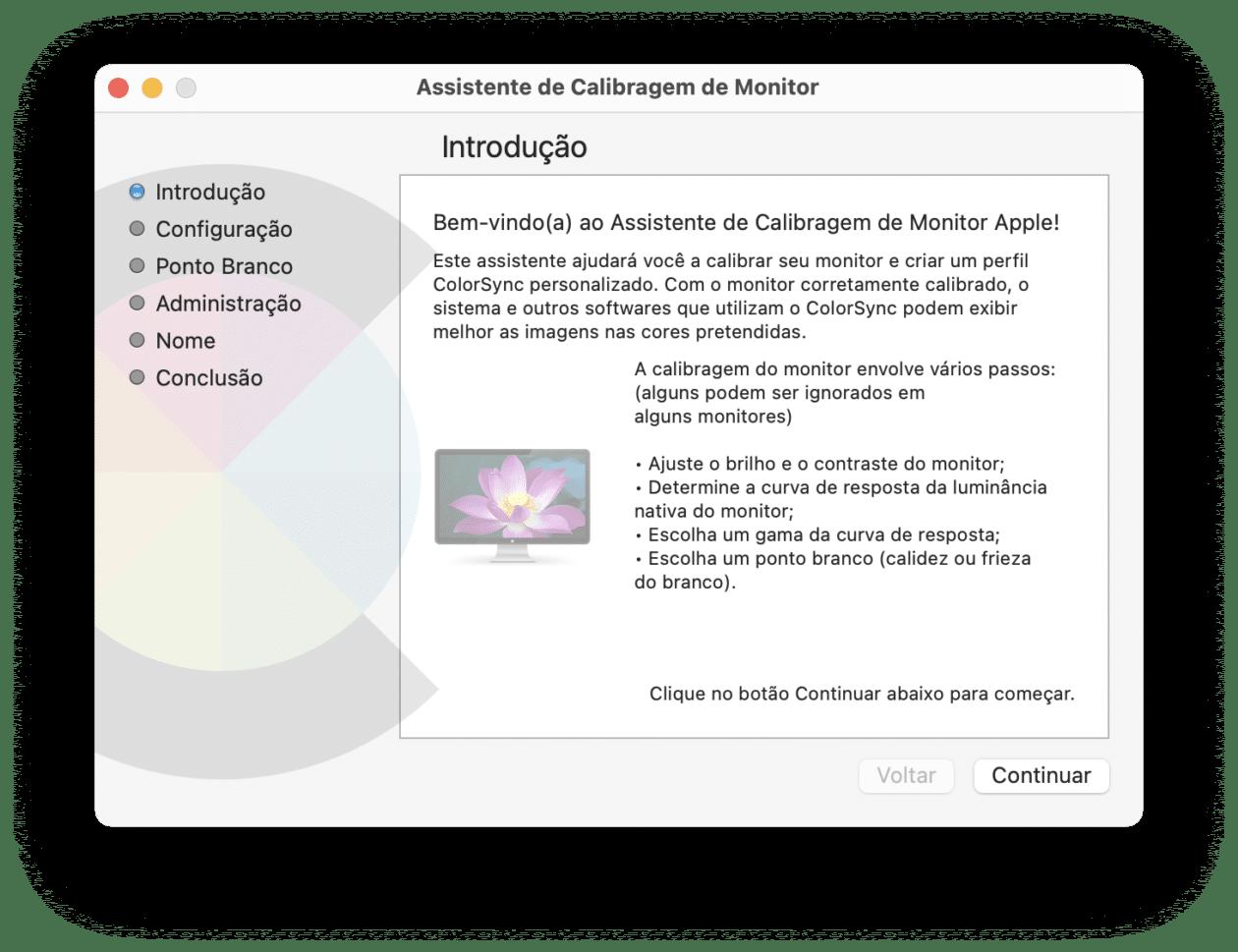 Calibração de cores no Mac
