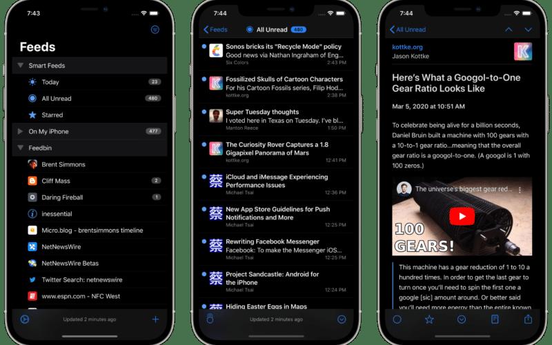 NetNewsWire 6 para iOS