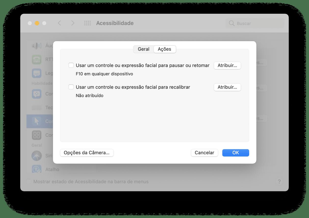 Movendo o cursor do Mac com a cabeça