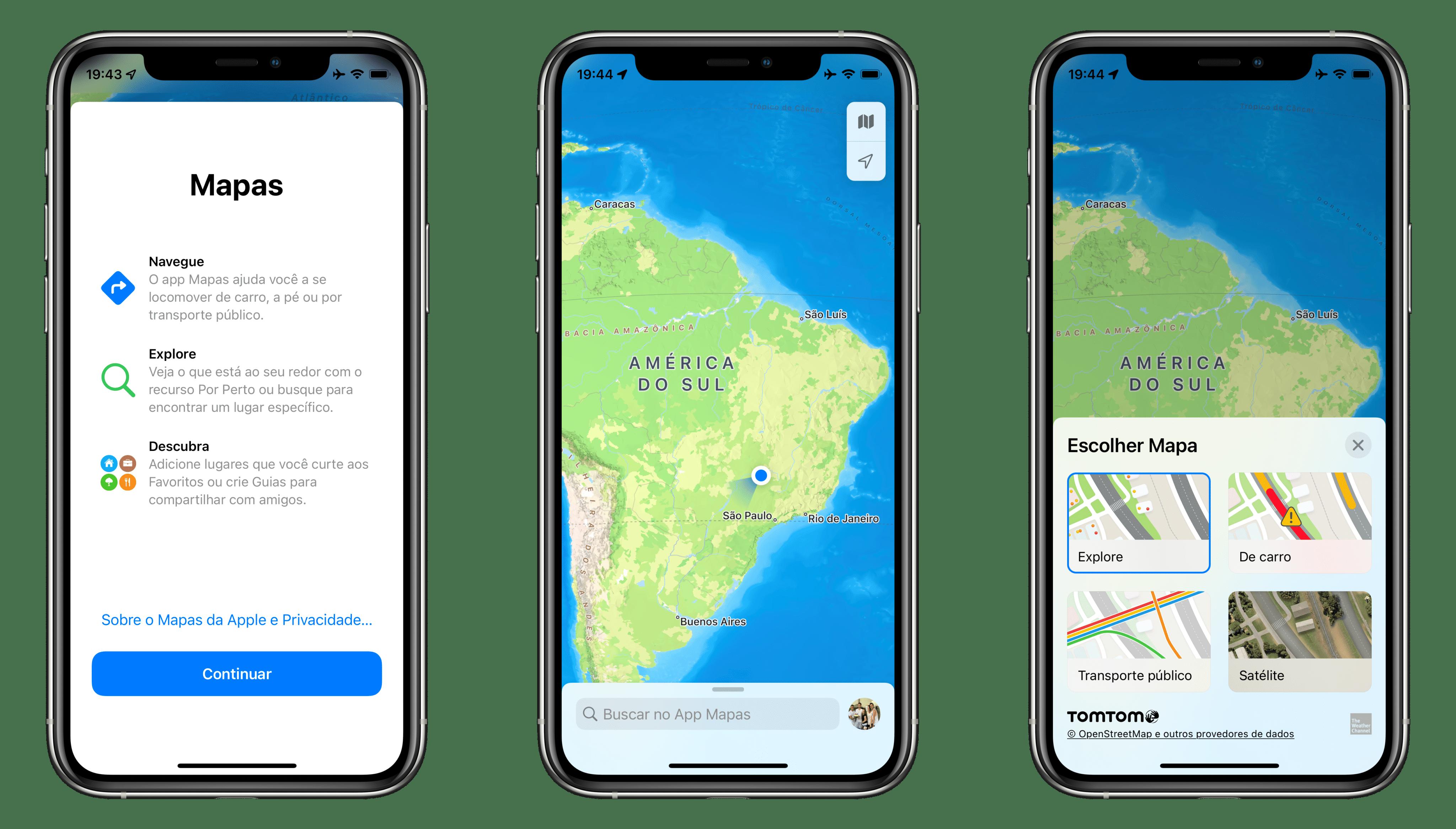 iOS 15 beta 2 Mapas