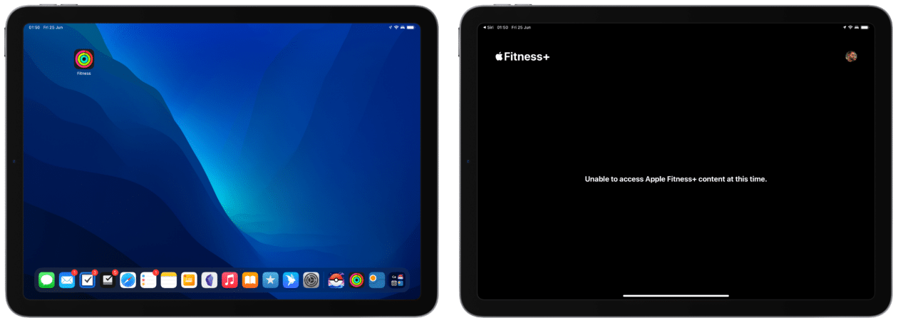 App Fitness no iPad
