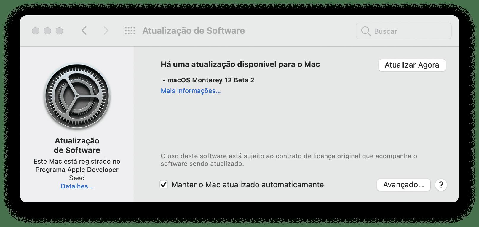 macOS Monterey 12 beta 2