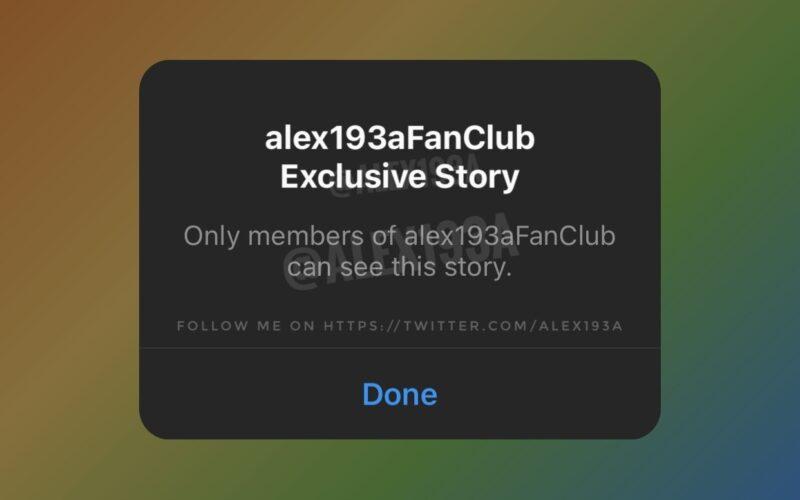 Vazamento do novo recurso do Instagram, os Stories Exclusivos