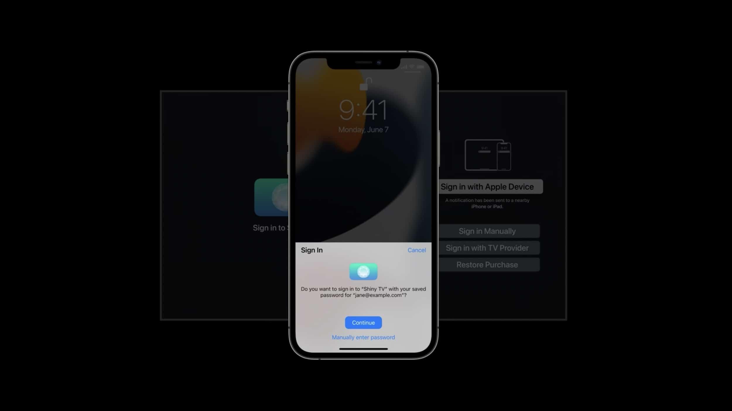 Sign in na Apple TV
