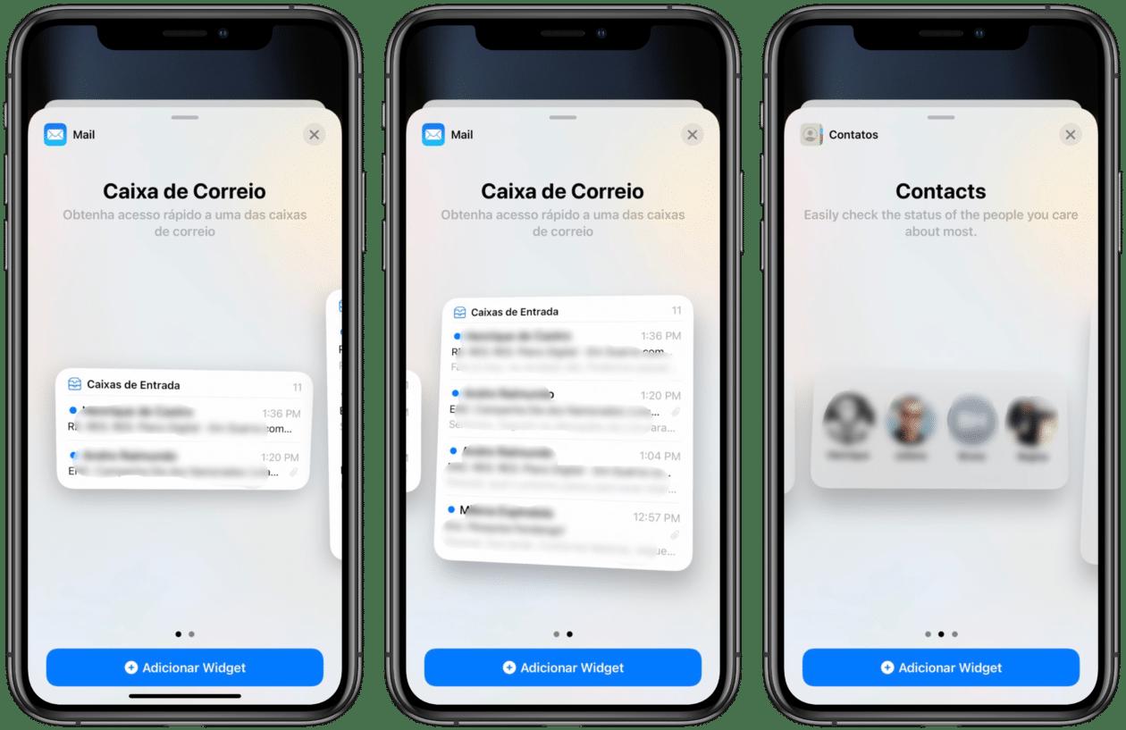 Widgets iOS 15 comunicação