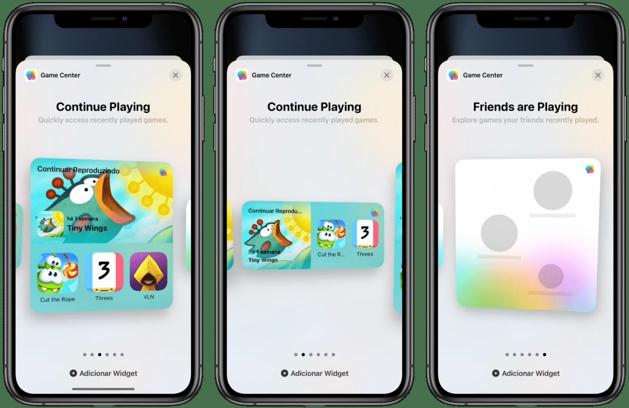Widgets iOS 15 Game Center