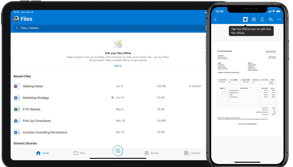 Novidades do Office para iOS e iPadOS