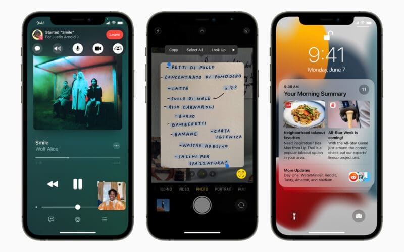 iPhone 12 Pro com o iOS 15