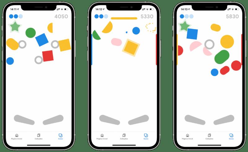 Pinball escondido no app do Google