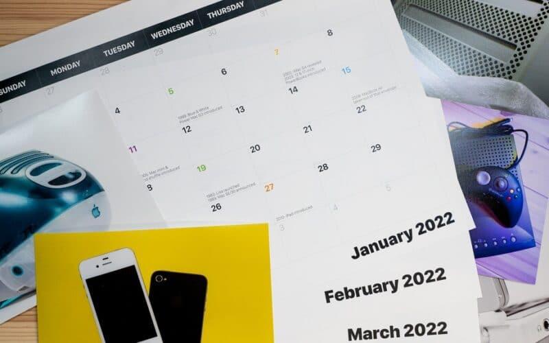 Calendário de lançamentos da Apple
