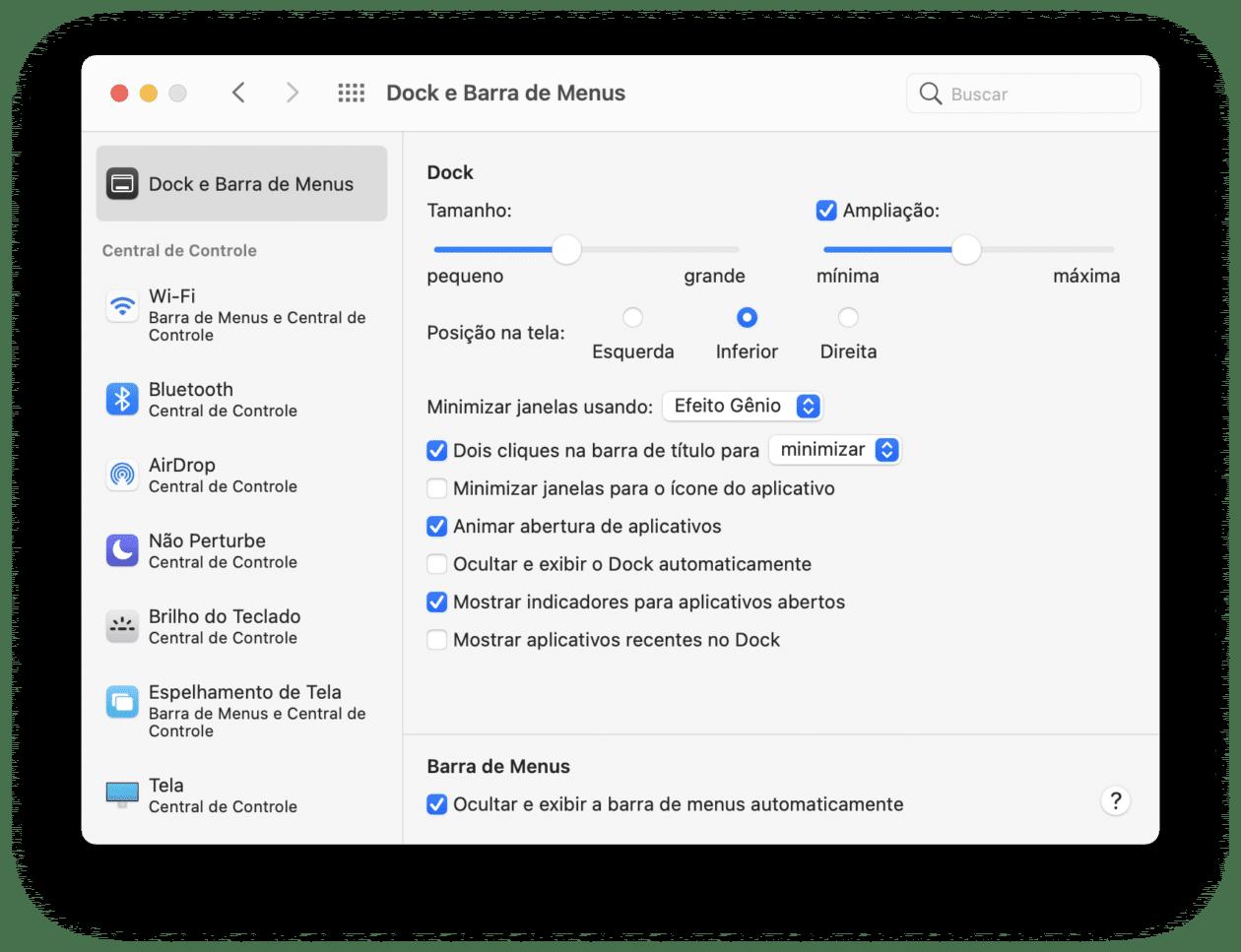 Personalizando a barra de menus do macOS