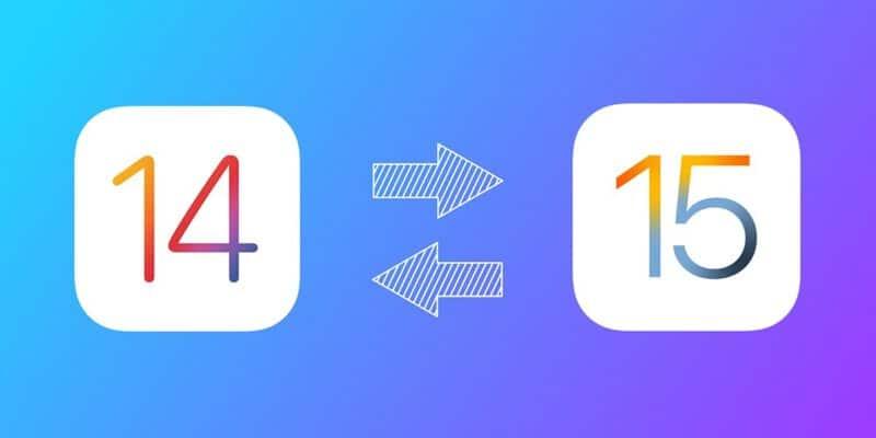 Downgrade do iOS 15
