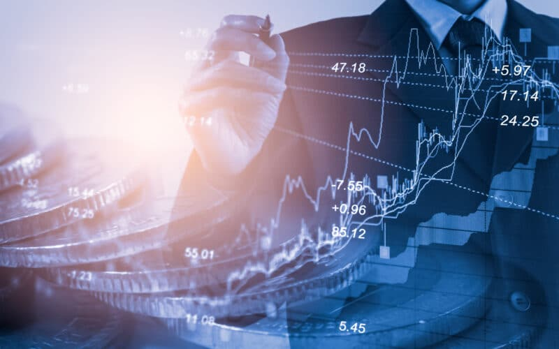 Gráfico de ações/forex