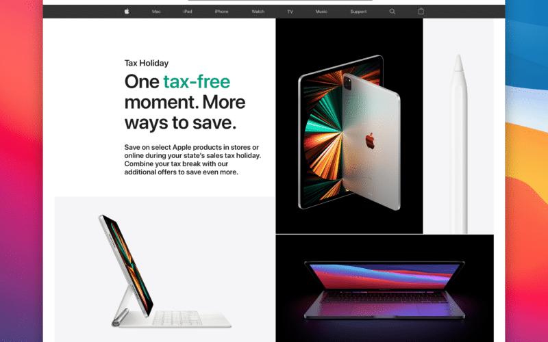 Tax Holiday da Apple