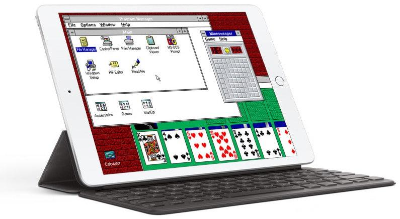 Windows 3.1 rodando num iPad