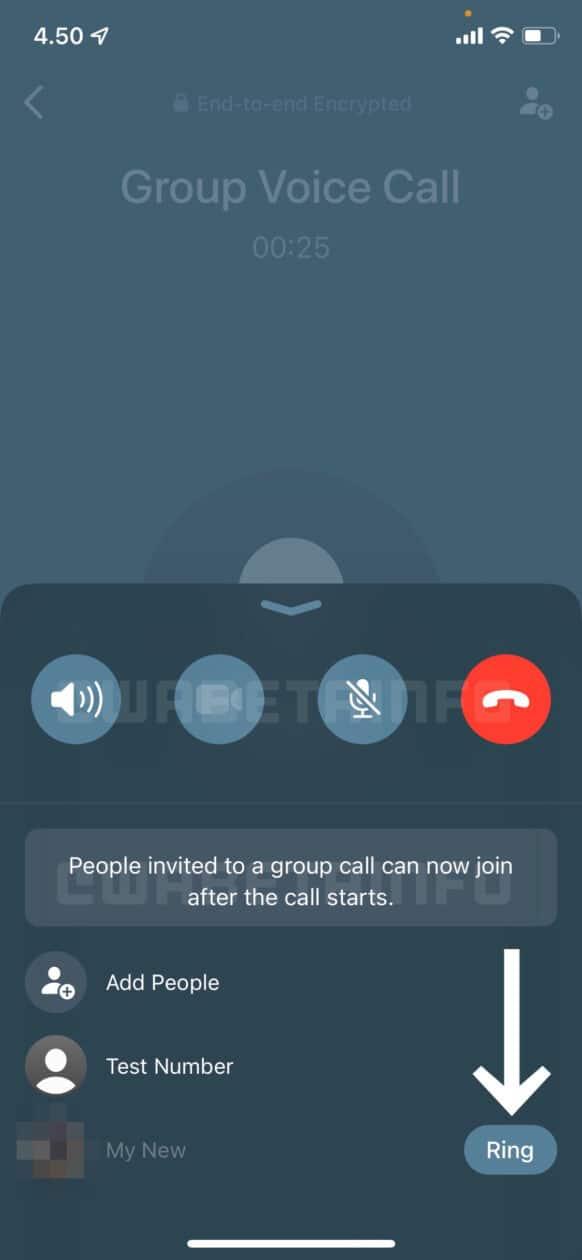 Interface de ligações do WhatsApp (beta)