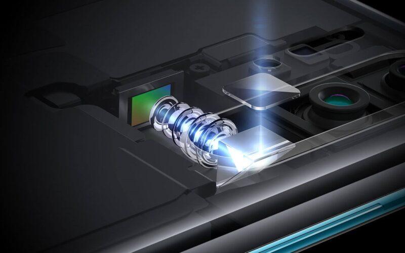 Lente periscópio num smartphone da Huawei
