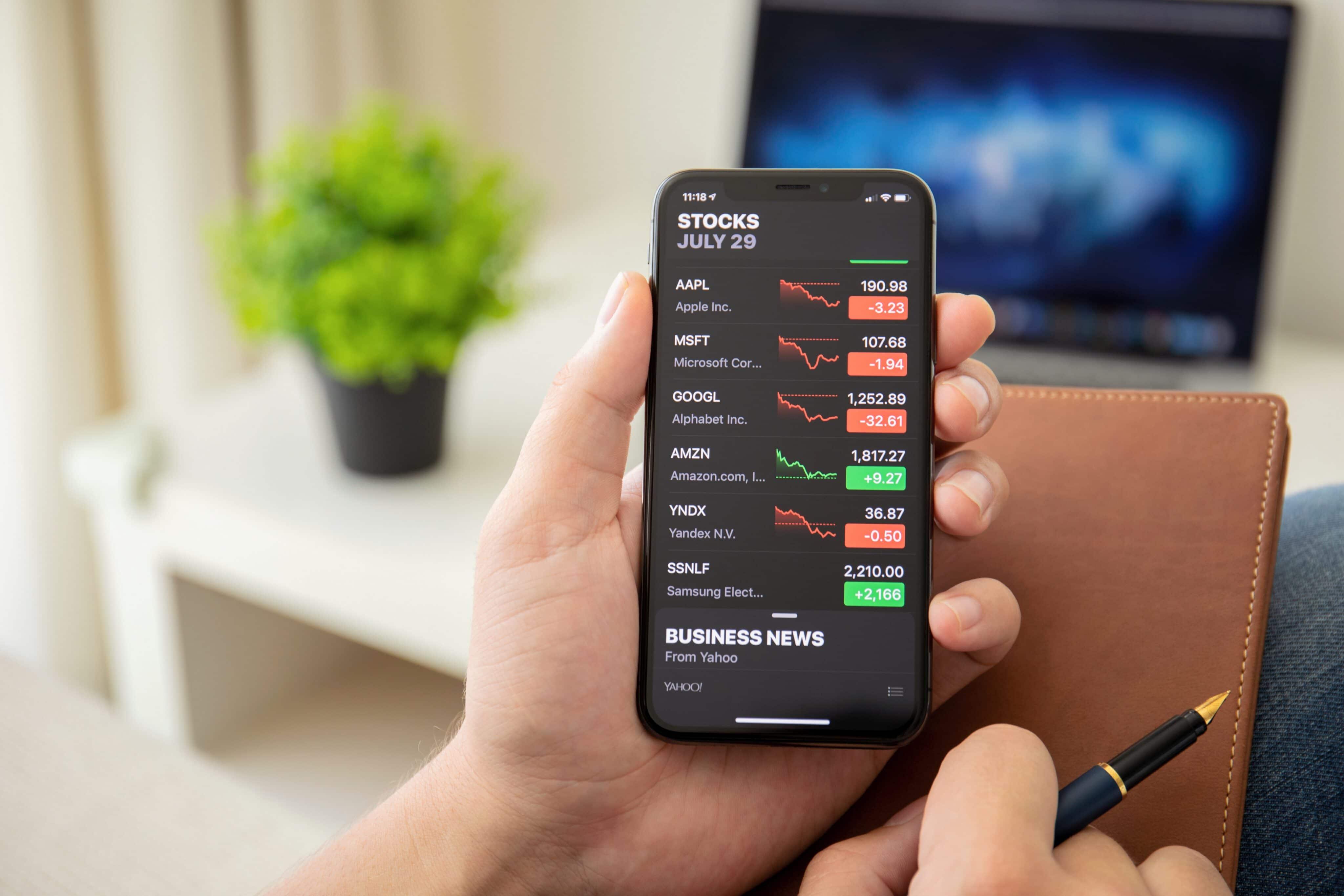 App Bolsa (Stocks) no iPhone