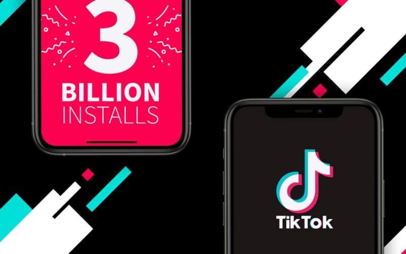 Segundo dados da Sensor Tower, TikTok ultrapassou marca de 3 bilhões de downloads