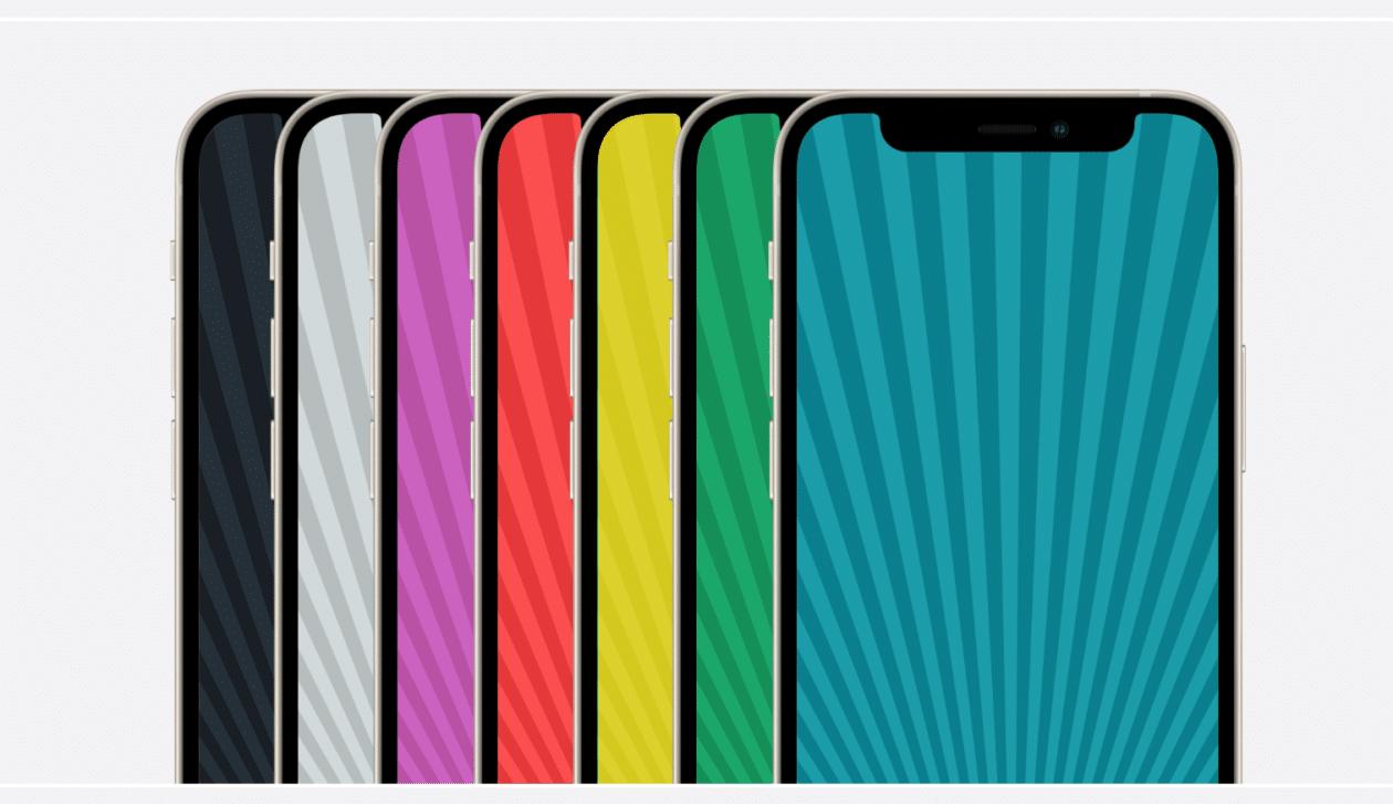 Coleção de 2012 dos wallpapers do iPod nano