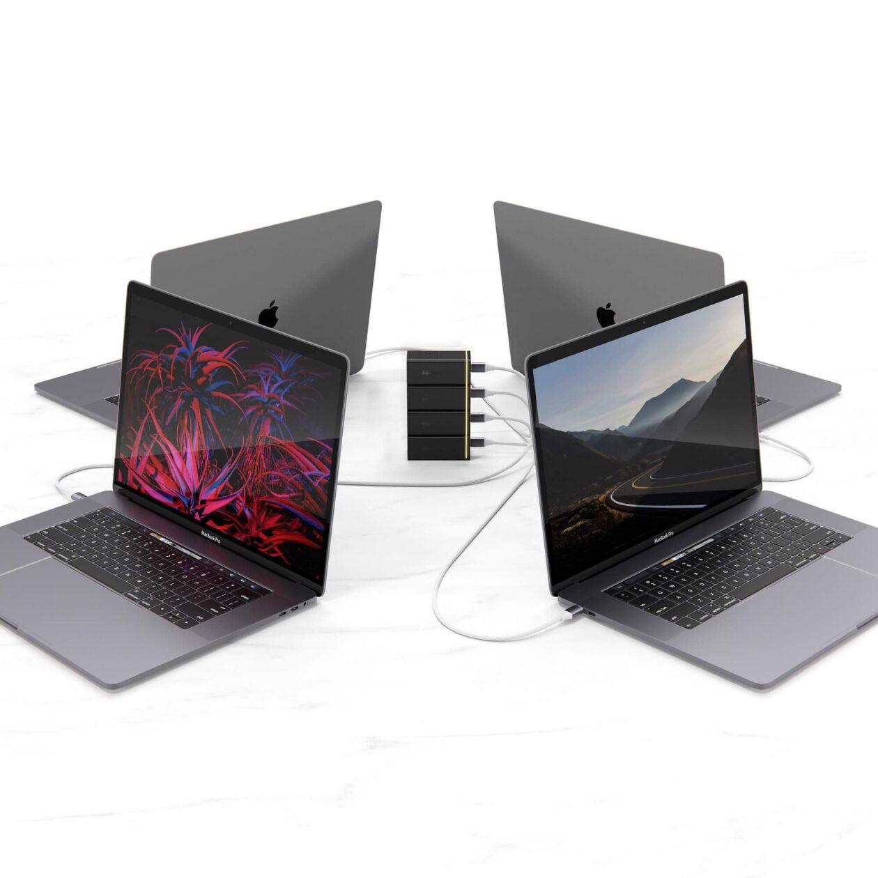 HyperJuice Stackable GaN Charger com Macs