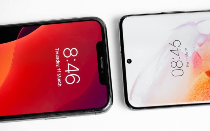 iPhone 11 Pro Max com Samsung Galaxy S21 Ultra (iOS vs. Android)