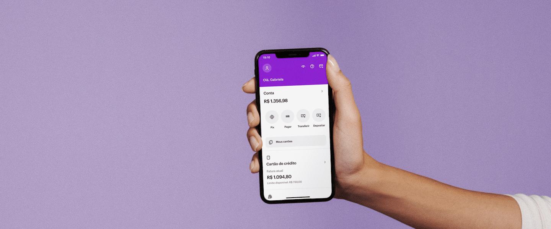 Novo layout do app Nubank