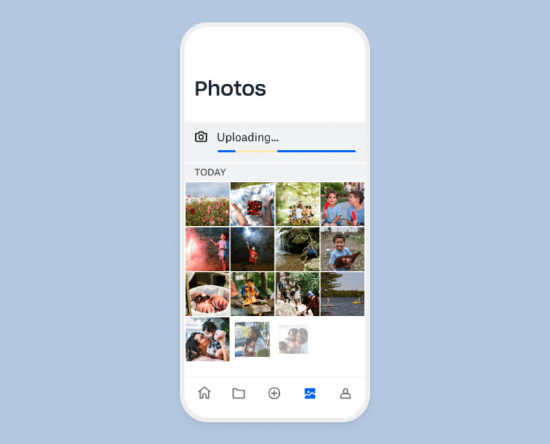 Melhorias no upload de fotos do Dropbox
