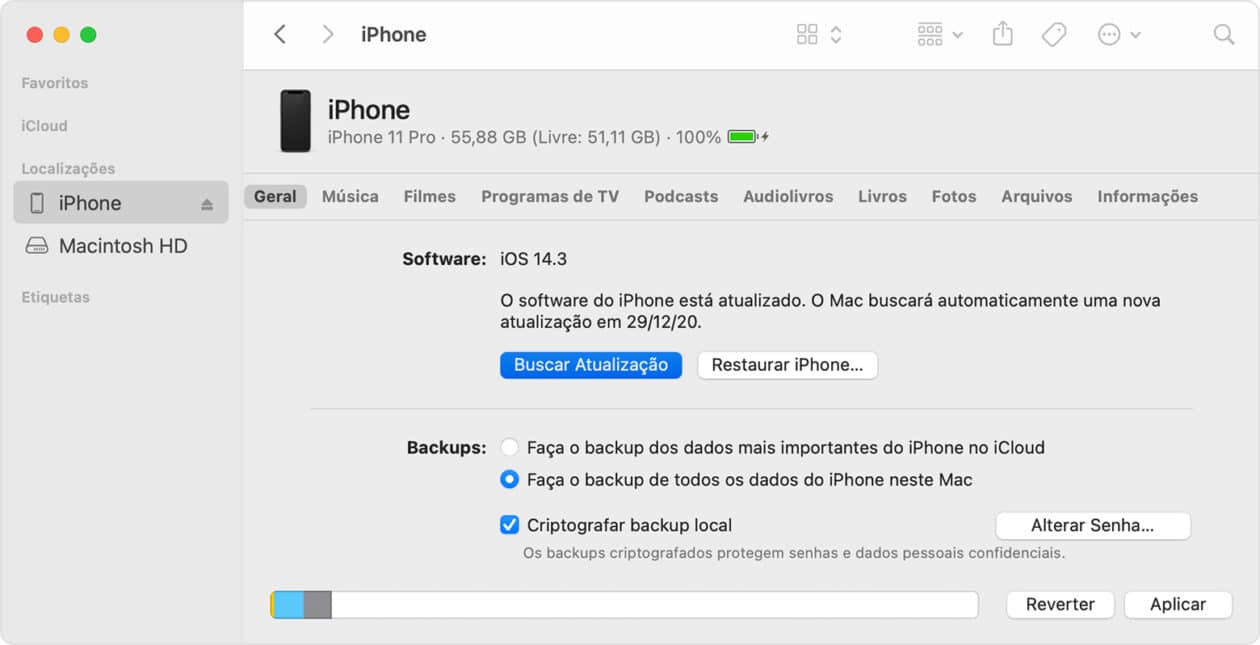 Atualização do iOS pelo Mac