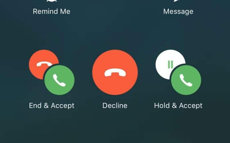Atendendo chamadas no iPhone