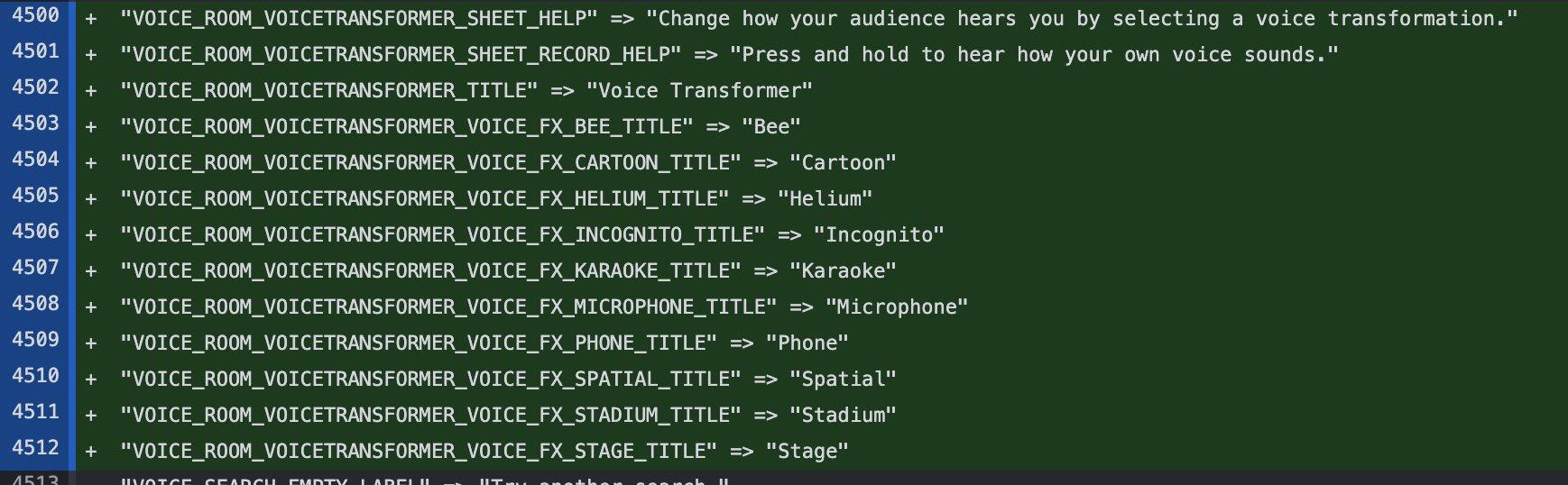 Efeitos do Voice Transformer