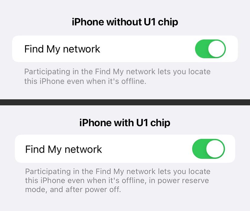 Buscar com iPhone desligado