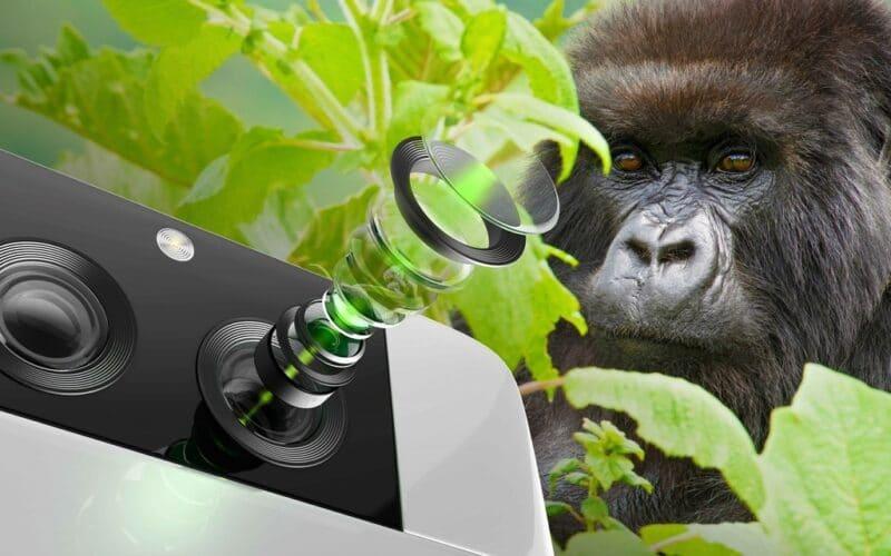 Vidro Gorilla Glass with DX para lentes de câmeras