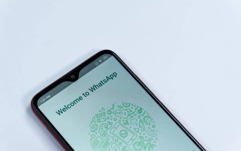 WhatsApp em um smartphone Android