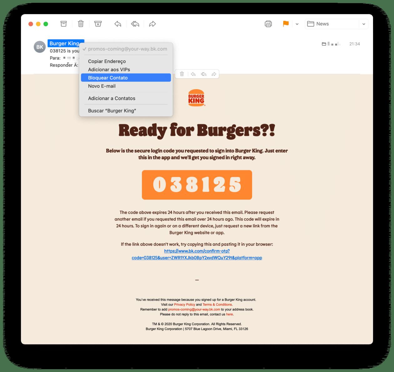 Bloquear remetentes no Mail do macOS