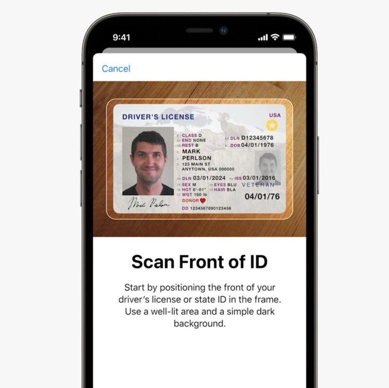 iOS 15: documentos no app Carteira