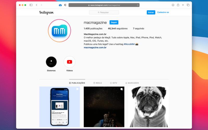 Instagram do MacMagazine