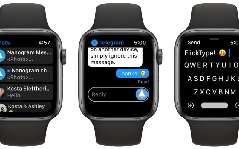 Nanogram, cliente do Telegram para Apple Watch