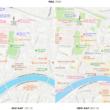 Teste de mapas renovados em Pisa, Itália
