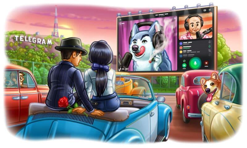 Telegram anuncia que chamadas de vídeos agora permitem até 1000 espectadores simultâneos