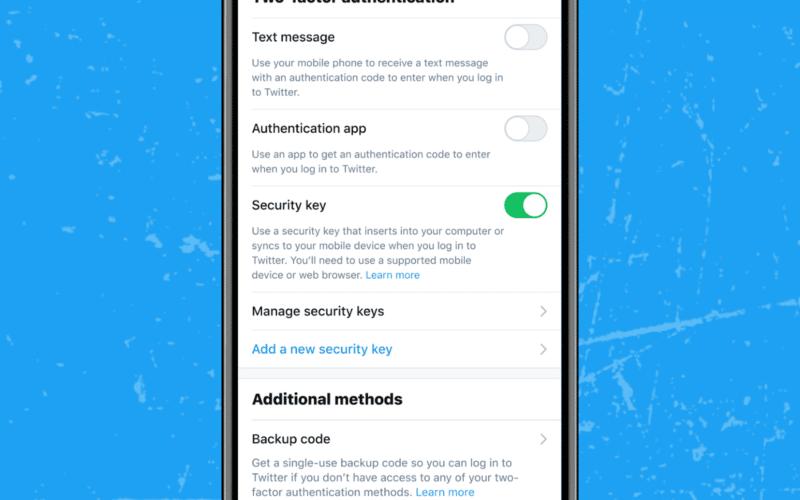 Twitter agora permite chaves de segurança como única forma de autenticação