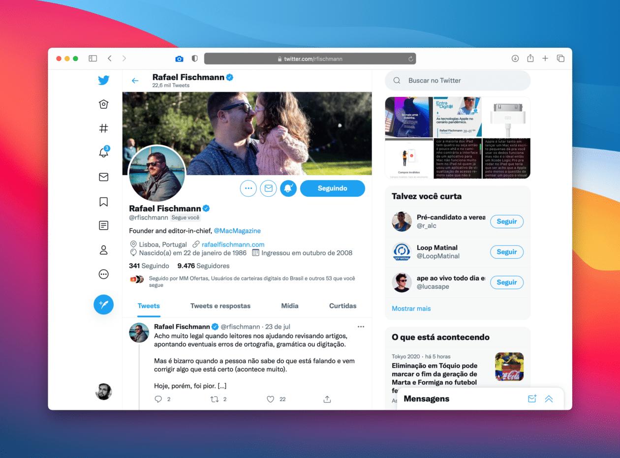 Twitter na web