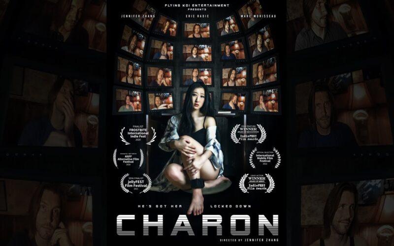"""Pôster oficial do filme """"Charon"""", filmado inteiramente em um iPhone 8 Plus pela roteirista e diretora Jenniger Zhang"""
