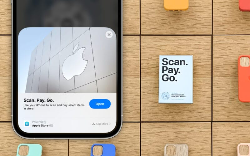 App Clip do Apple Store no iPhone