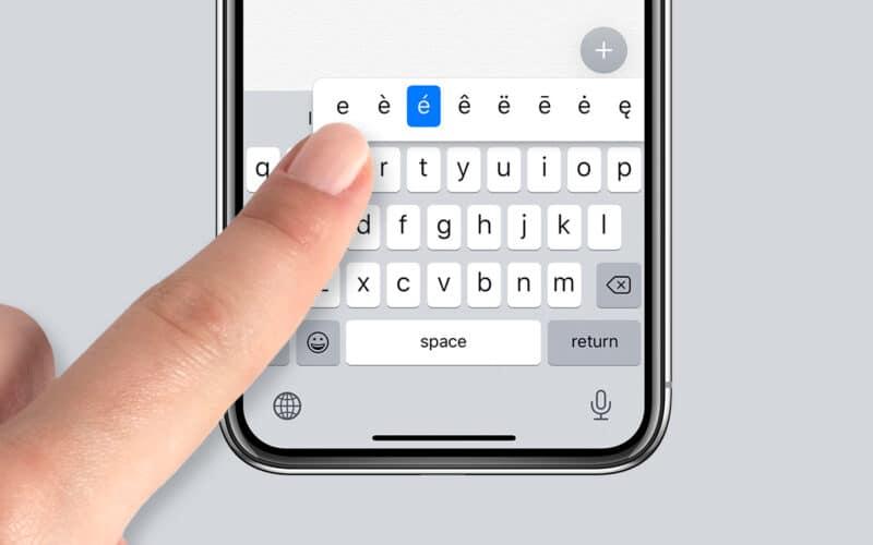 Teclado do iPhone
