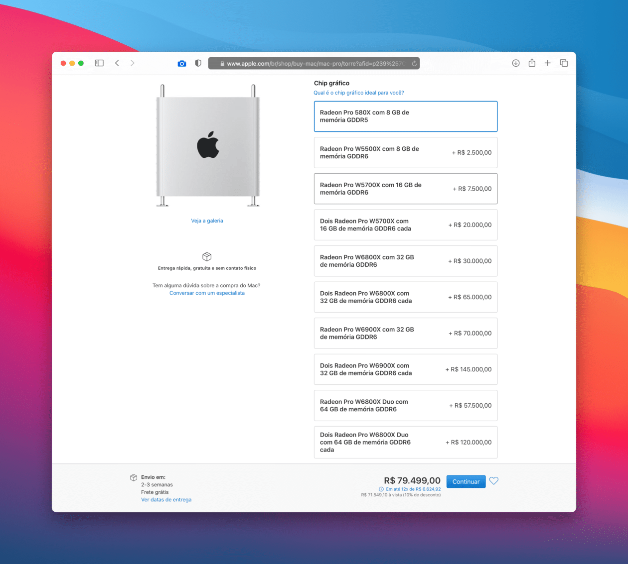 Personalizando o Mac Pro