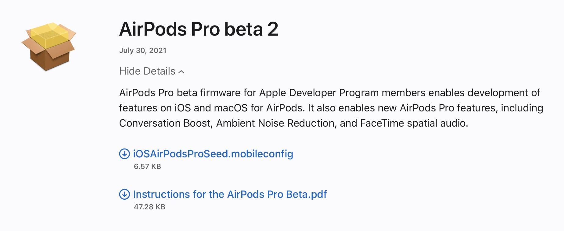 AirPods Pro beta 2